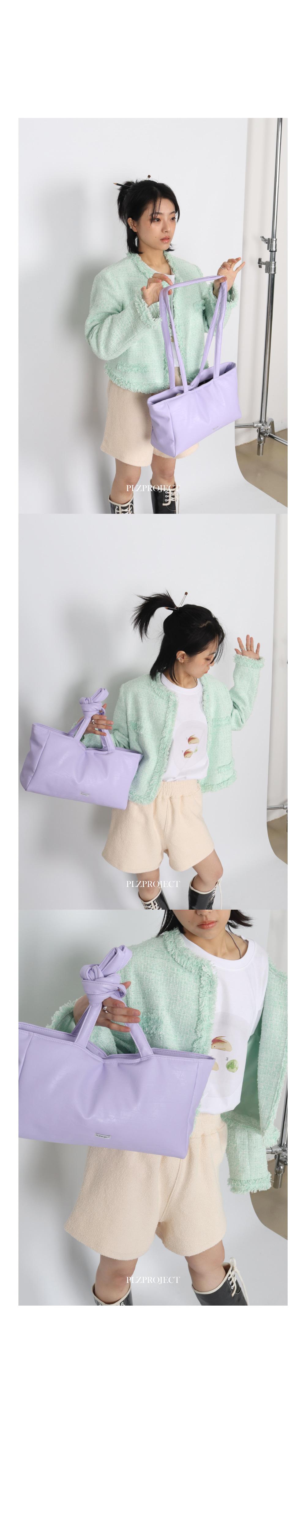 플리즈프로젝트(PLZPROJECT) 2-way Leather padding bag_violet