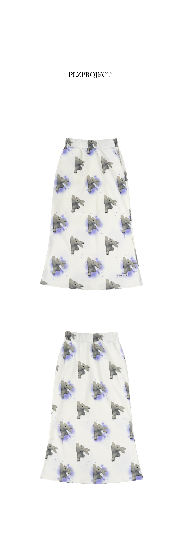 플리즈프로젝트(PLZPROJECT) speedy rabbit skirt_blue